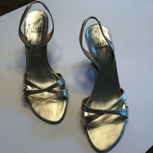 Stuart Weitzman Gold Sandals size 7